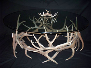 Model TR4 Elk and Deer Horn Table