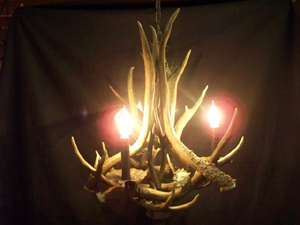 Model #DC3: Deer Antler Chandelier