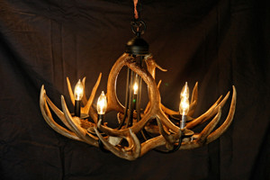 Model #DC1: Deer Antler Chandelier