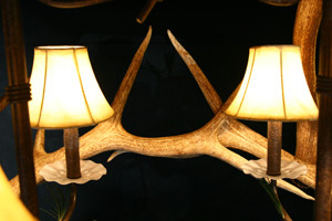 Model #ECO1: Antler Chandelier detail