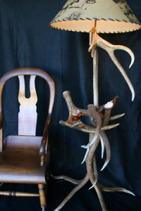 Model #EFL1 Elk Horn Floor Antler Lamp