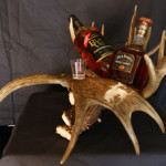 #WHRM Whiskey Rack with Moose Paddle